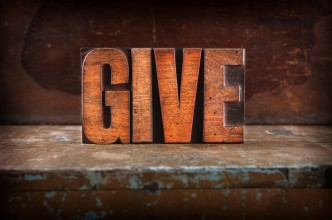 Imge of the word give